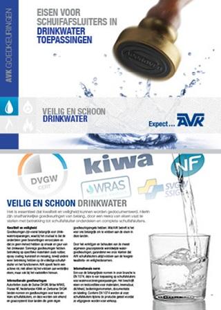 AVK goedkeuringen voor afsluiter in drinkwater