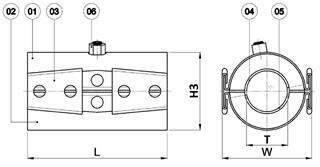 Materialen QR overgangskoppeling gas