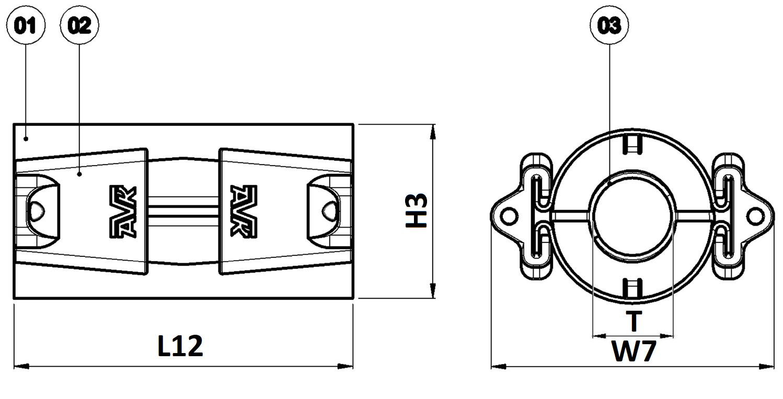 Materialen QR overgangskoppeling water