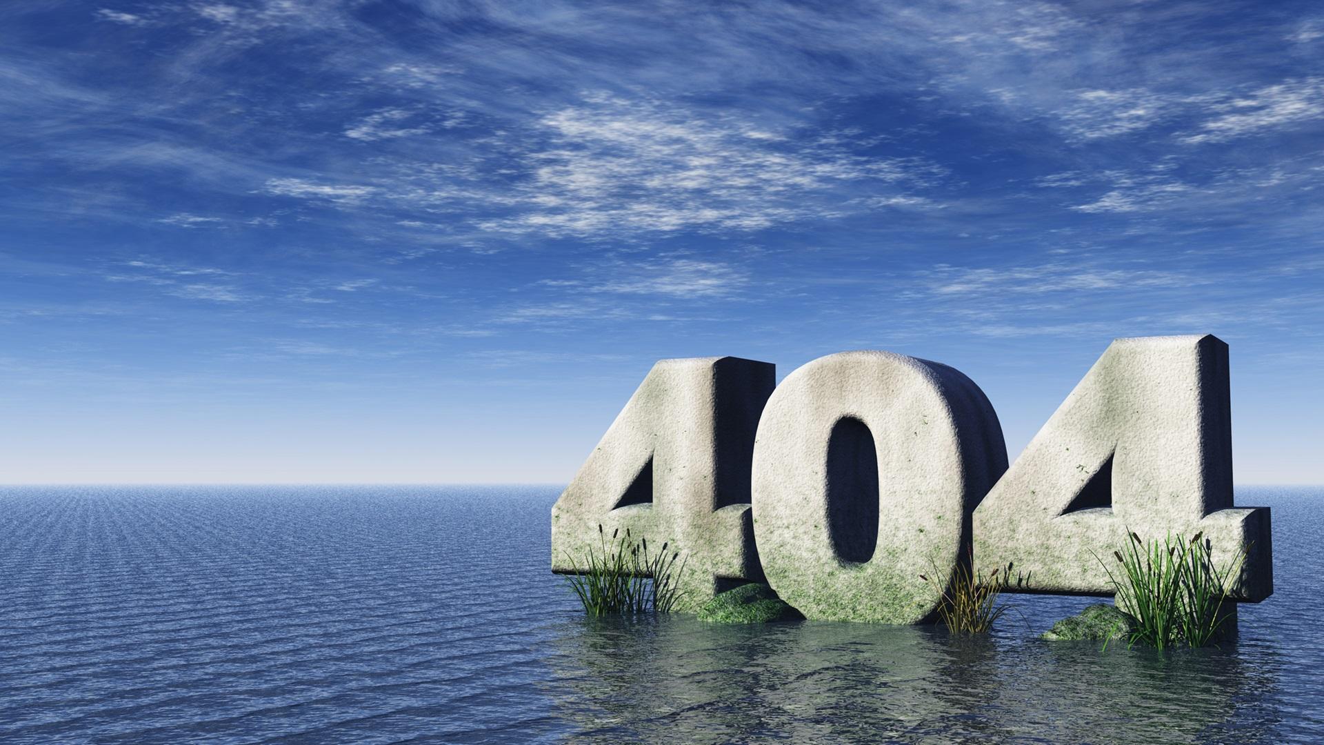 404 - foutpagina water
