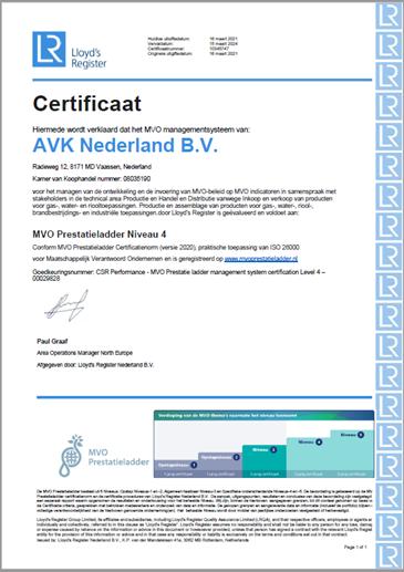 MVO certificaat