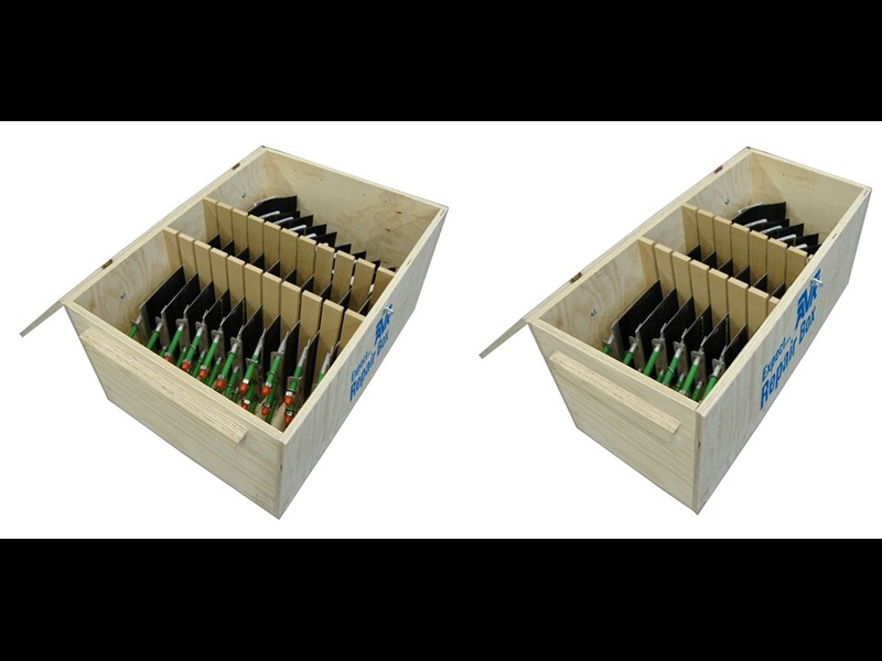 Repair box with 6 or 10 elements